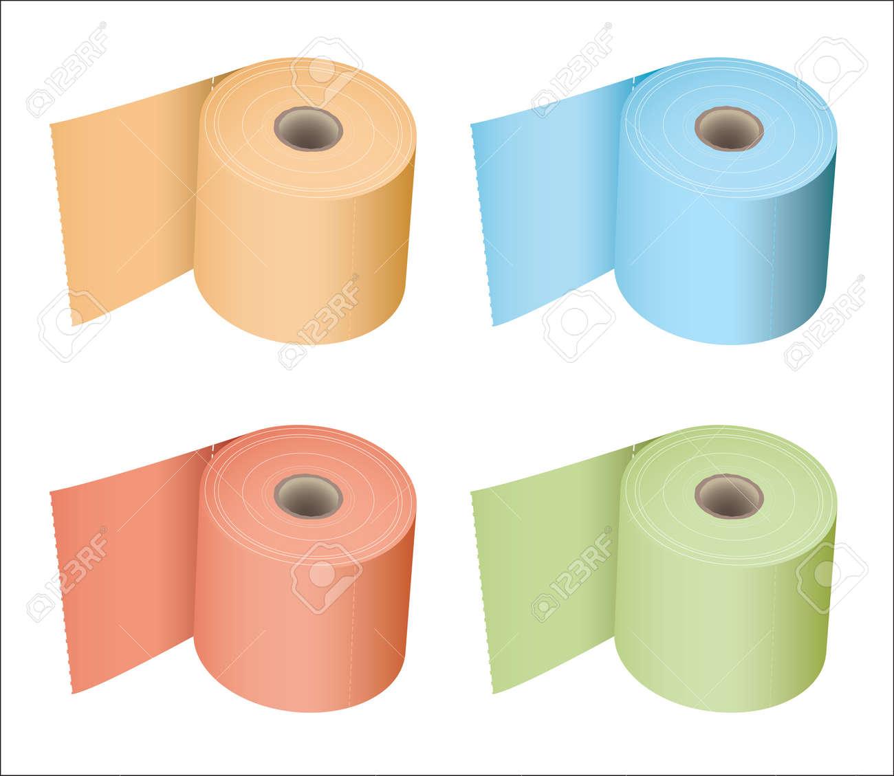 Parfait Banque Du0027images   Rouleau De Papier Toilette Coloré Dans Une Variété De  Tissus De Couleurs Subtiles