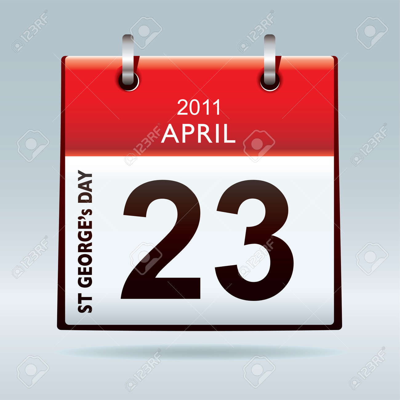 St georges day calendar icon bank holiday concept Stock Photo - 9359961