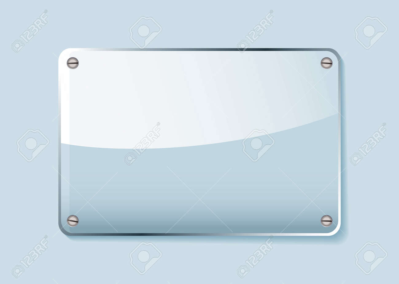 Transparent clear glass company name plate with room for text - 9751476