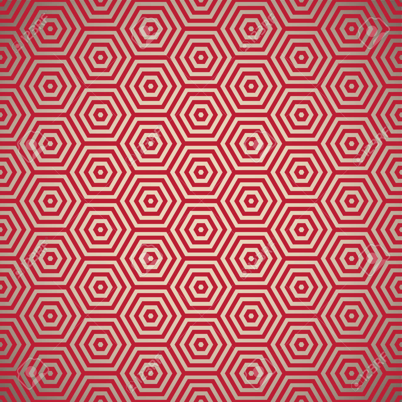 Retro inspired red seamless background pattern design - 9751486