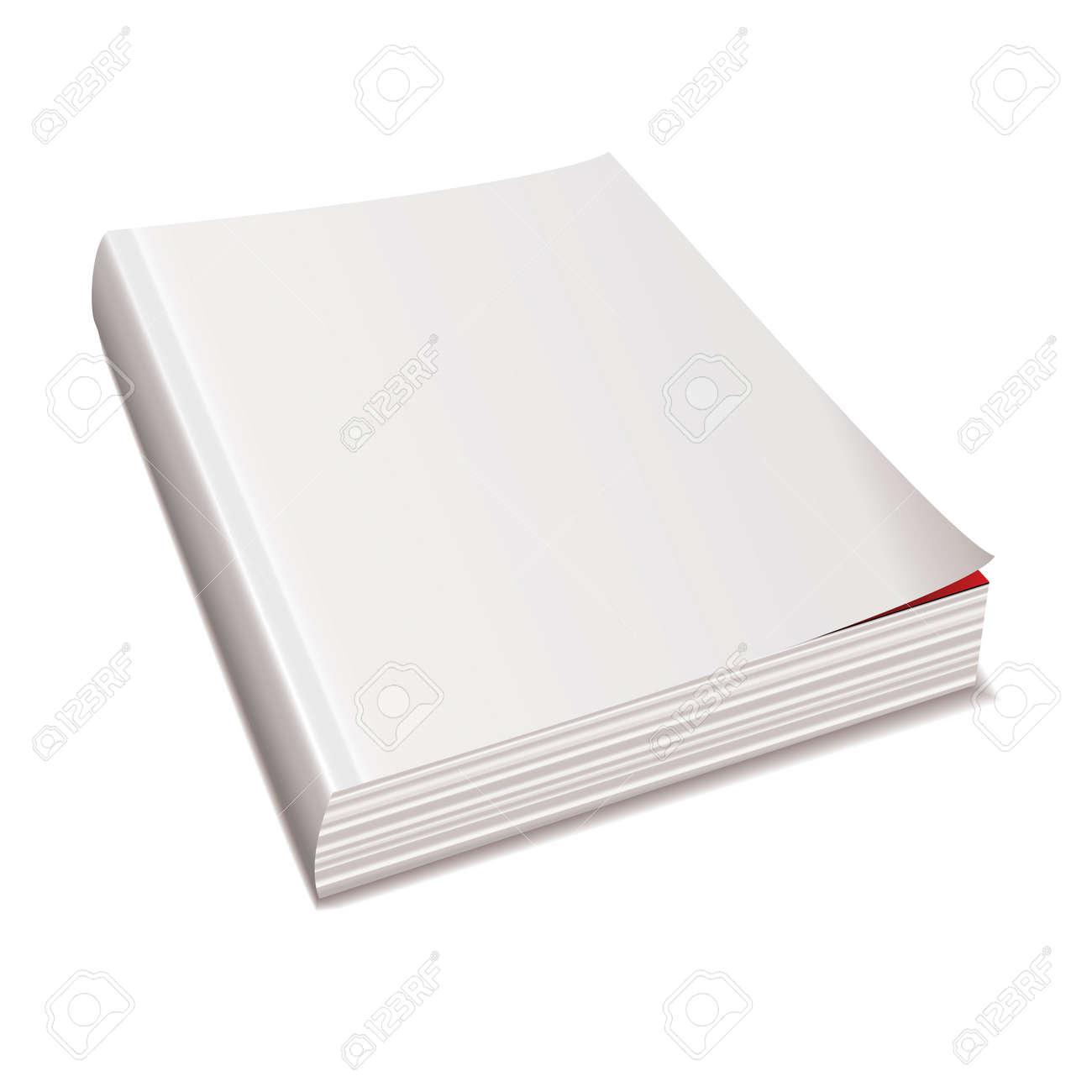 Livre Blanc De Blanc Livre Dos Avec Colonne Vertebrale Ombre