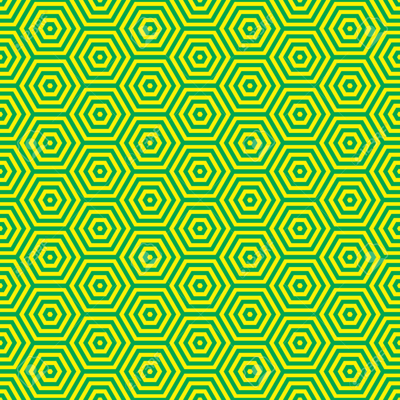 Green And Yellow Retro Seventies Inspired Wallpaper Pattern Stock
