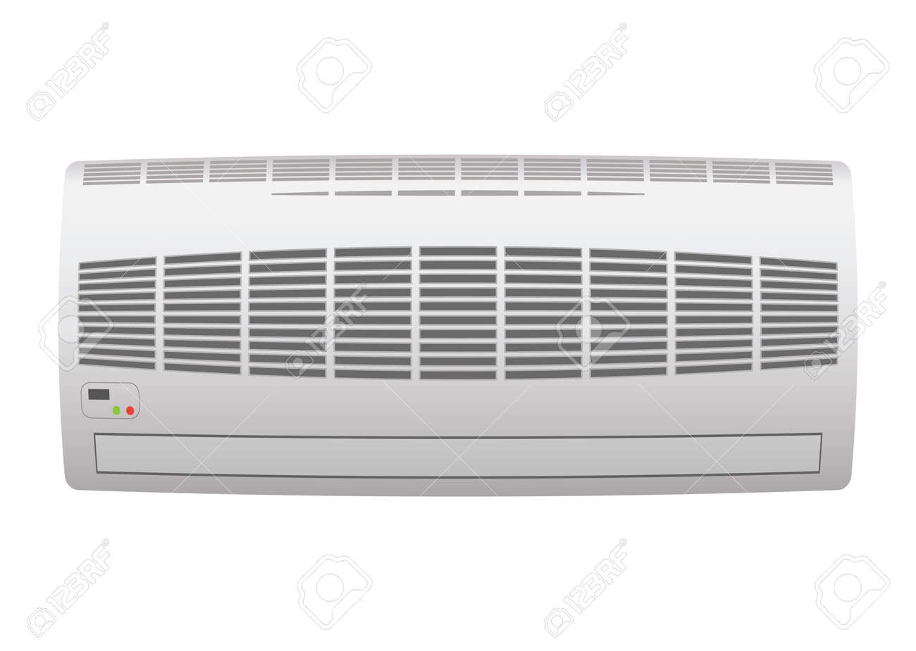 Modern air conditioner with open grill - 9923791