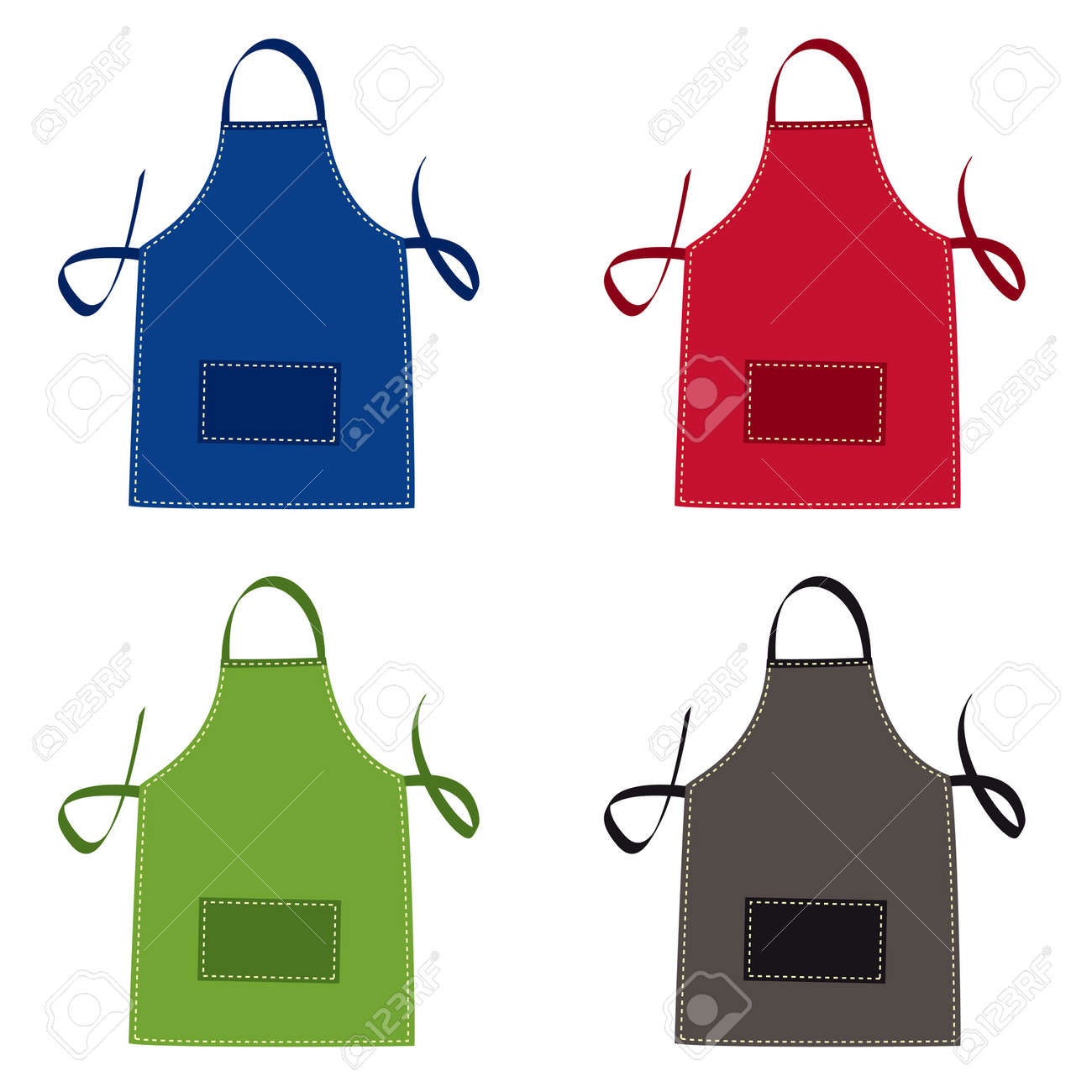 Cooks apron collection in bright colours with pocket - 9923788