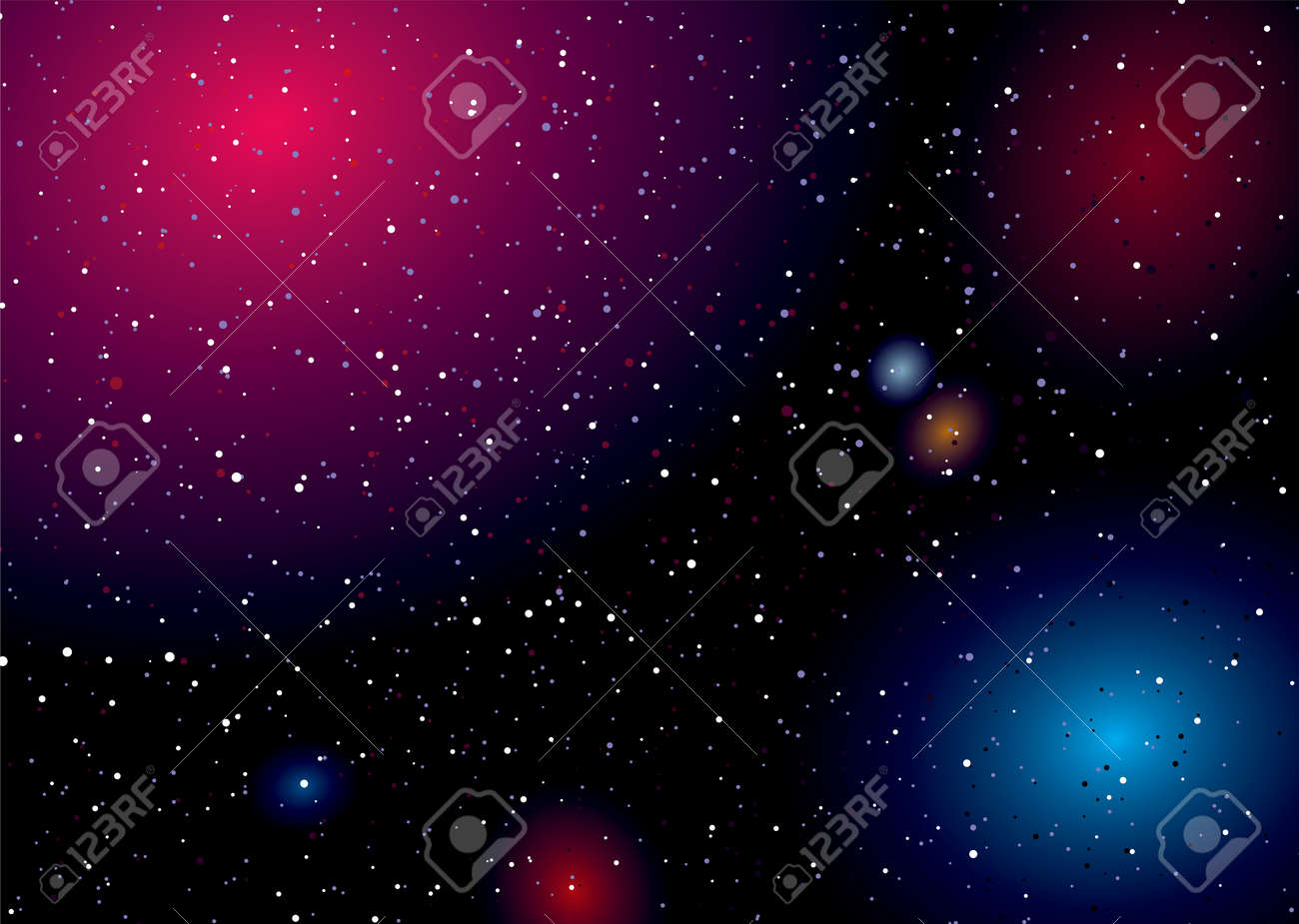 Rainbow of colours captured in this deep space landscape - 10050392