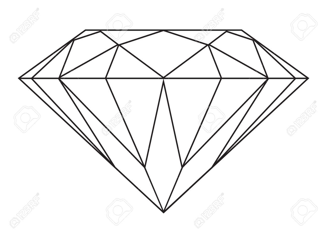 Diamond traditional outline photo advise to wear in winter in 2019