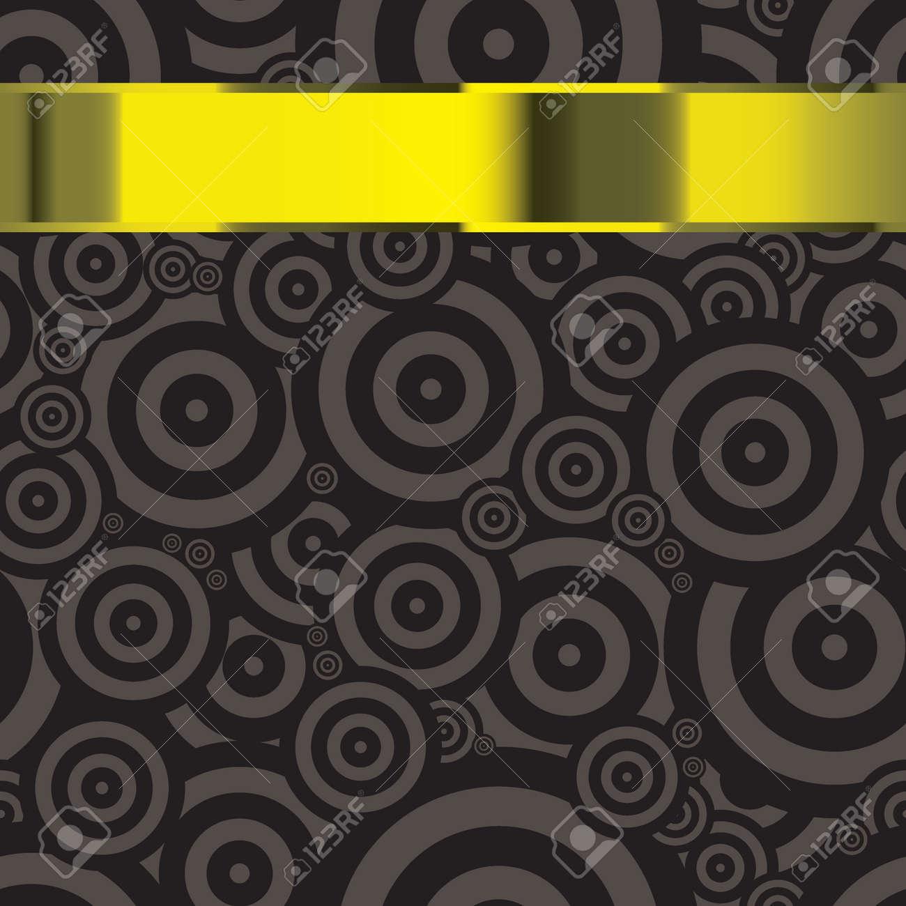 Schwarze Moderne Tapeten Vorlage Mit Copyspace Für Text In Goldband ...