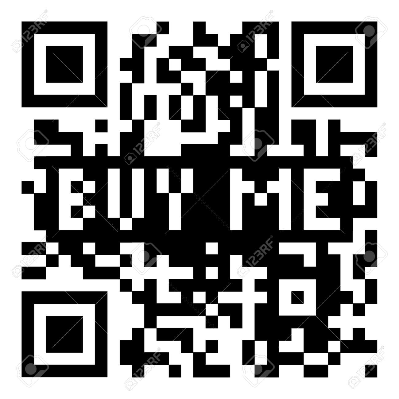 Simple modern qr code with buy me for shopping icon Stock Photo - 13348148