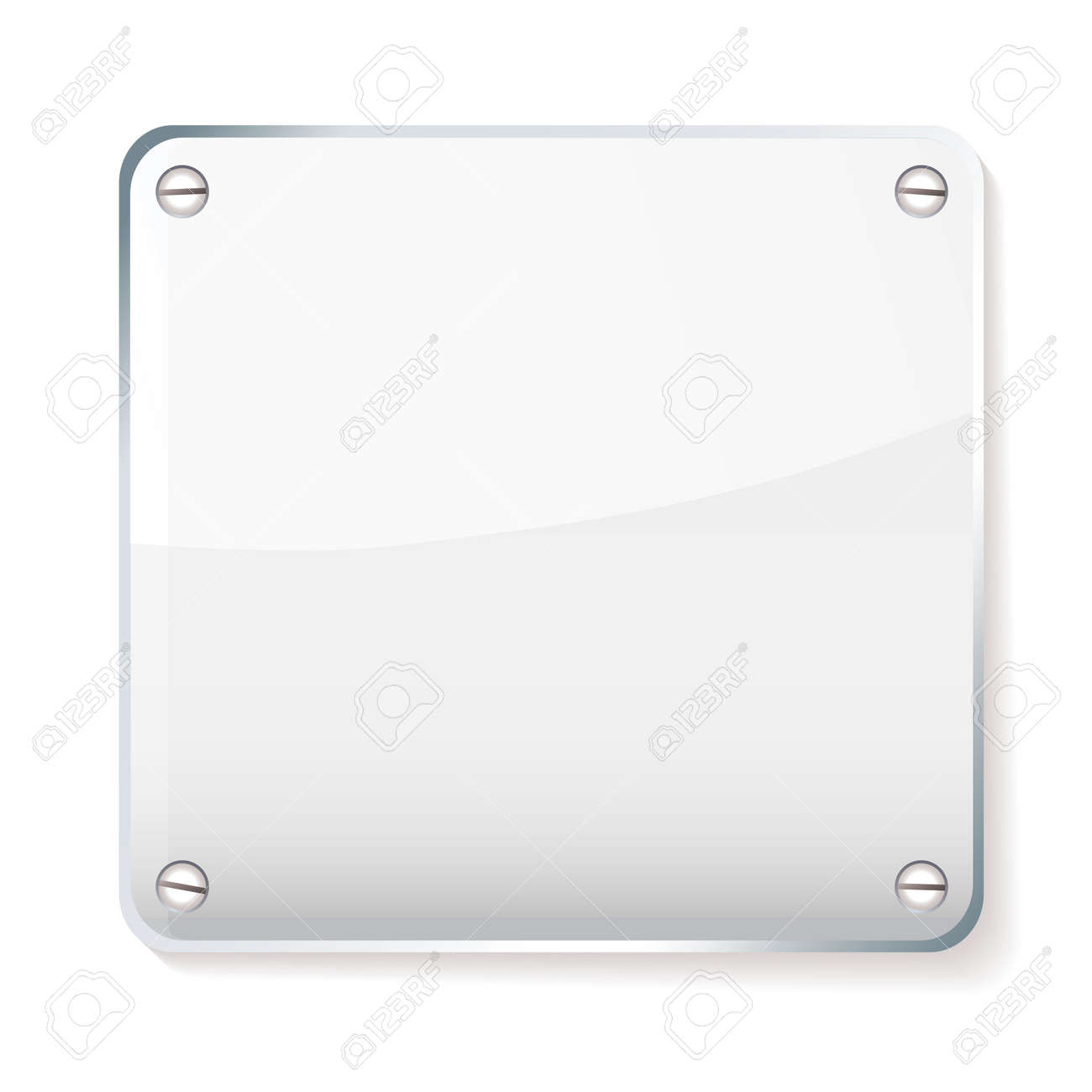 Copy space for your company name on glass plate with shadow - 14872290