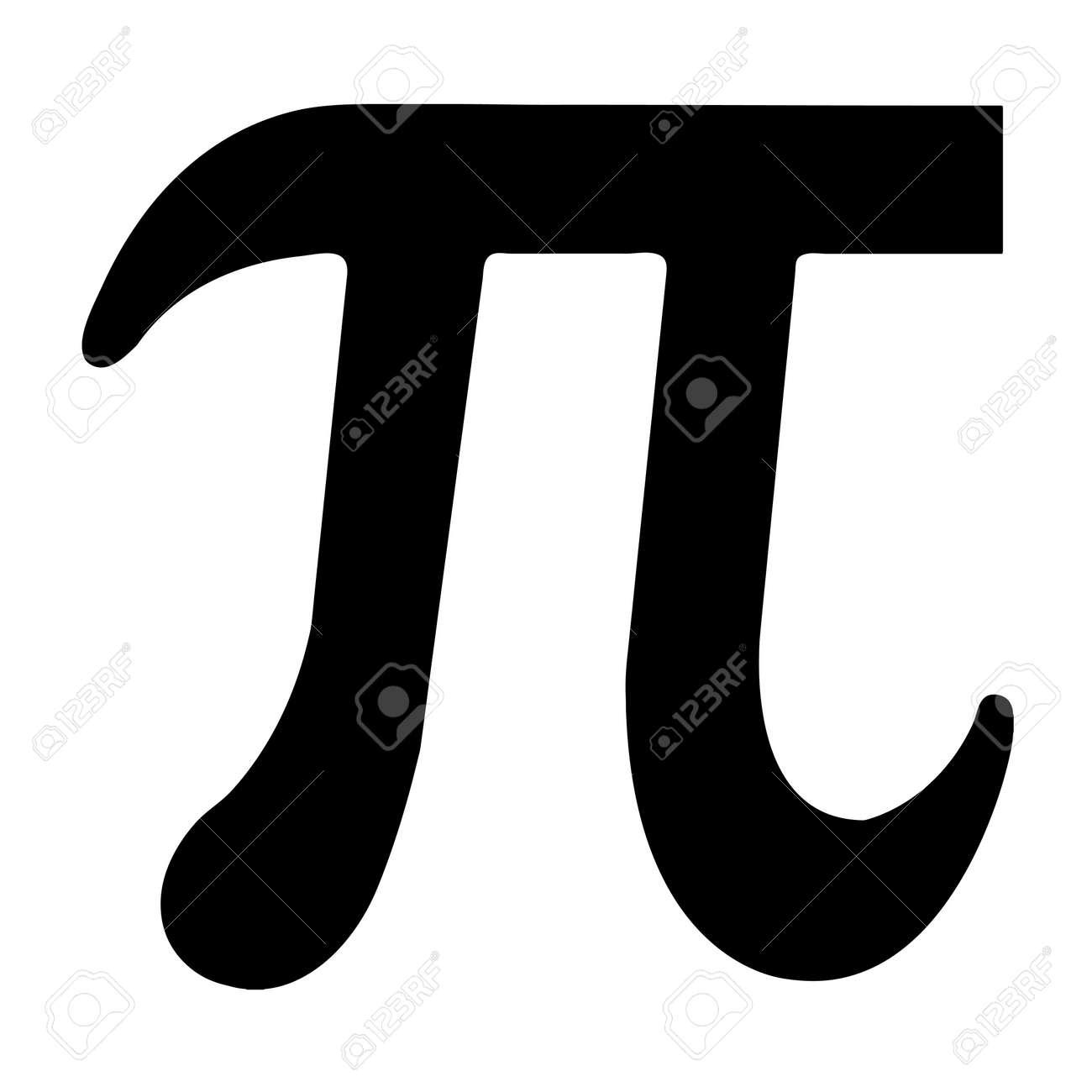 Illustrated black Pi symbol - 56300805