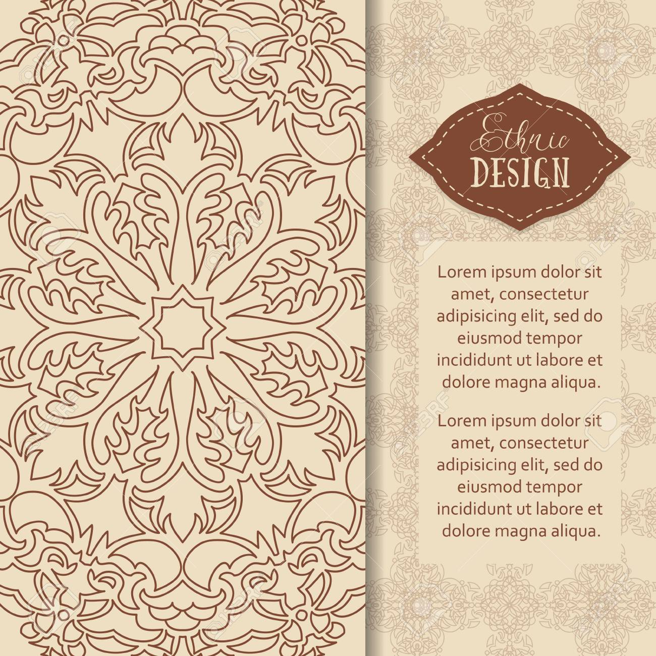 Ethnic design vector background vintage ornament pattern the vector background vintage ornament pattern the greeting card or invitation stopboris Choice Image