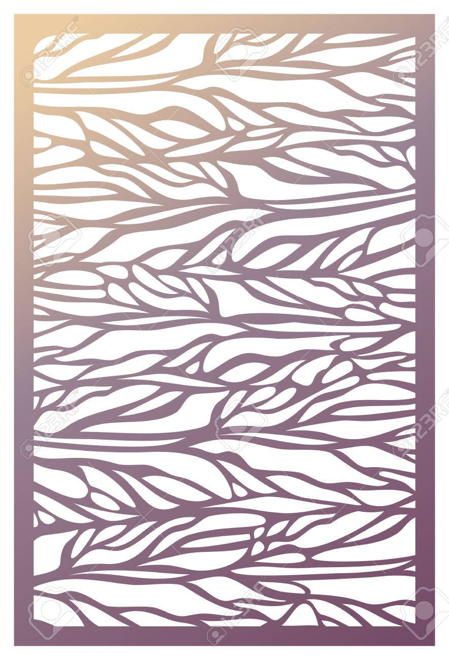 Vector Laser Cut Panel. Pattern Template For Decorative Panel ...