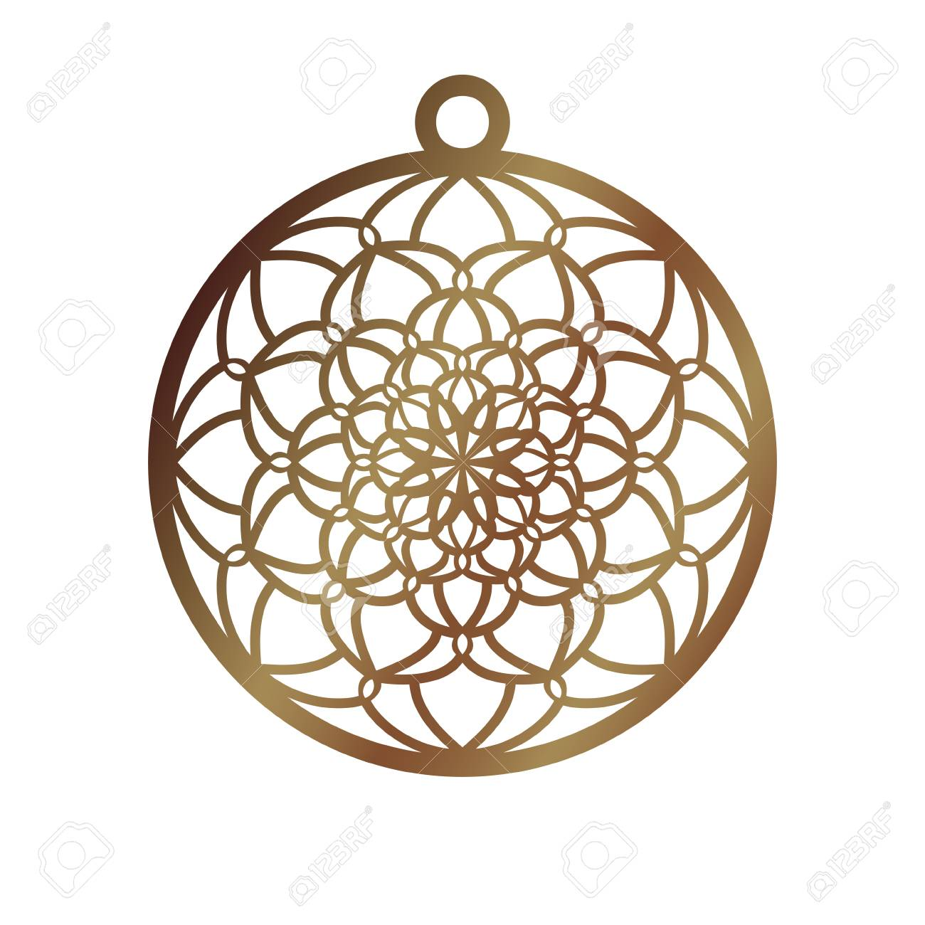 Laser Cut Openwork Christmas Decoration Vector Design Laser