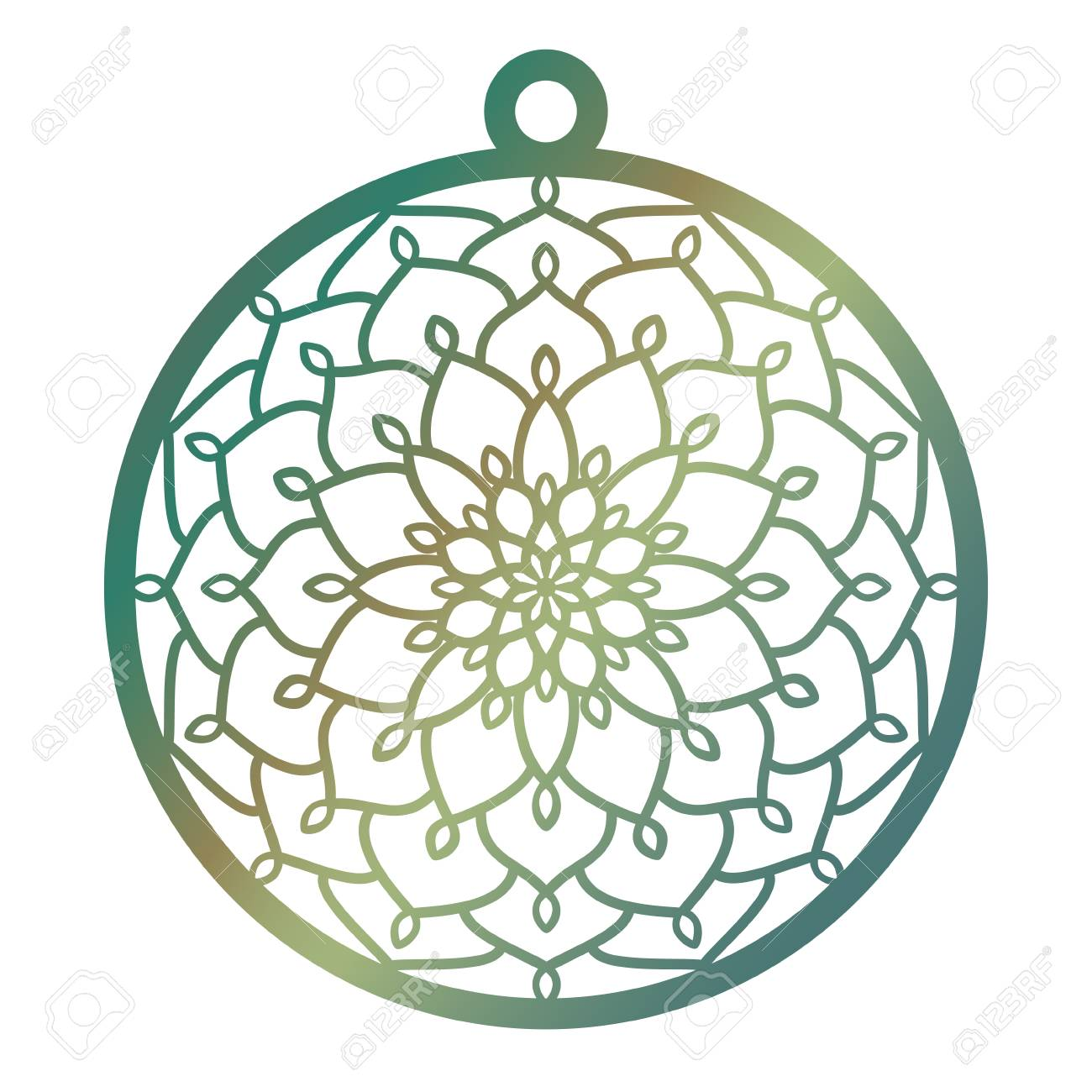Laser Cut Openwork Christmas Decoration Vector Design Merry