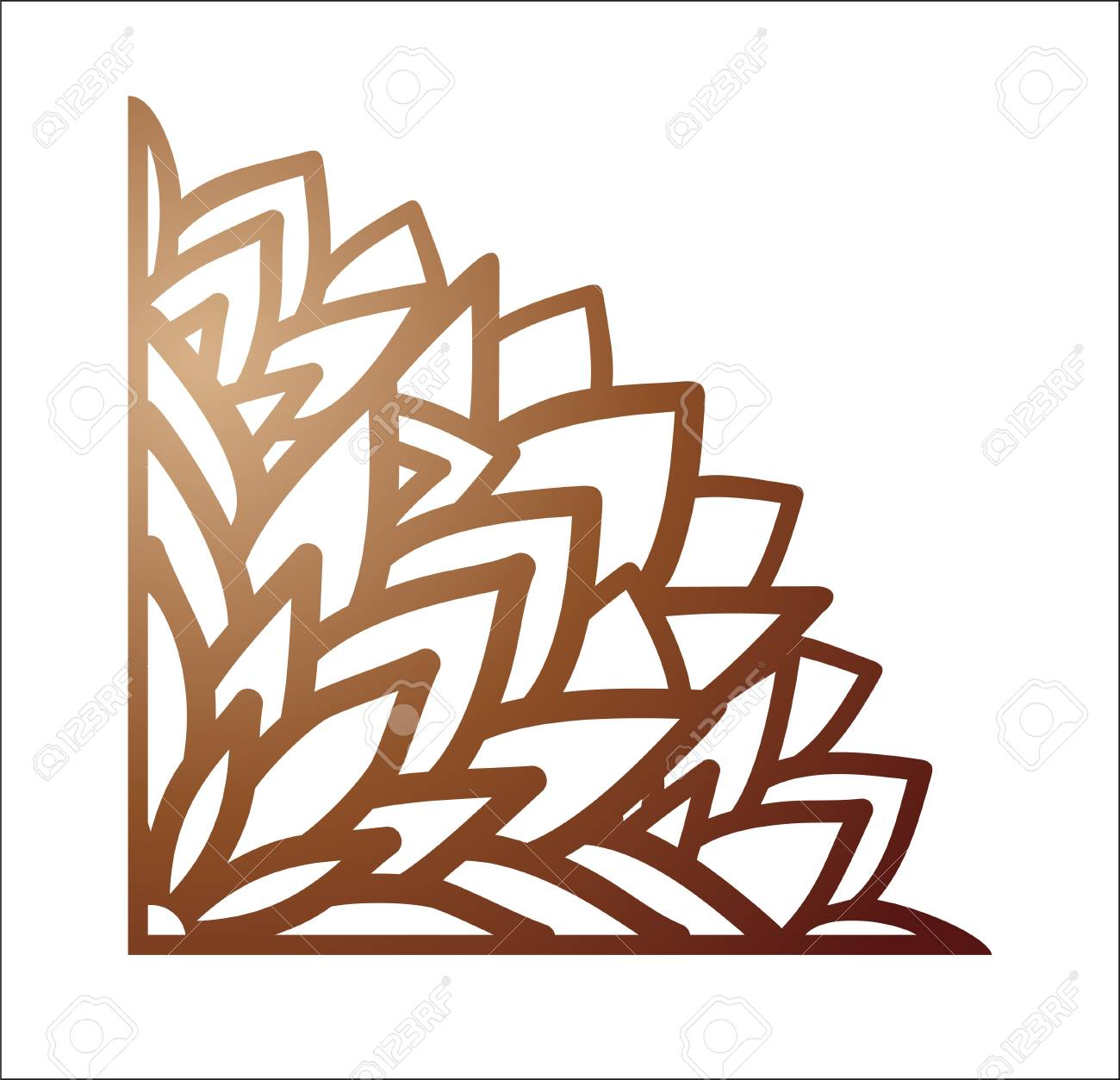 Laser Cutting Corner. Vector Template For Paper Cutting, Metal ...