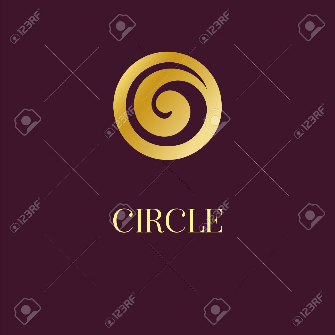 Abstract icon design elegant golden circle spiral symbol template artwork exhibitions auctions corporate products yoga studio boutique spa center jewelry hotel business cards universal premium vector sign reheart Choice Image