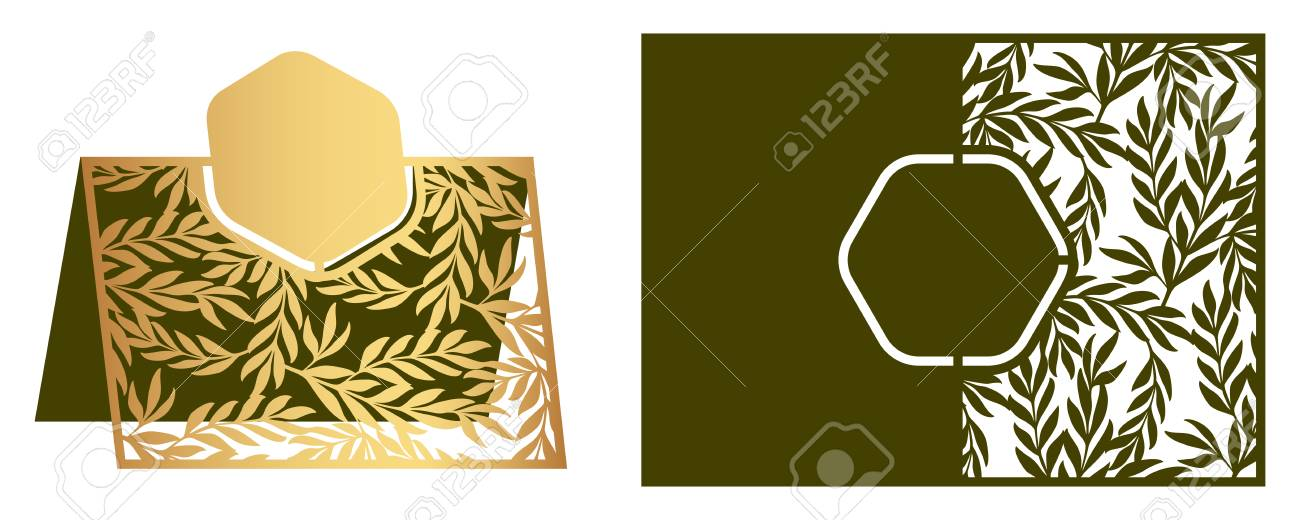 Laser Cut Ornamental Vector Template With Floral Pattern ...