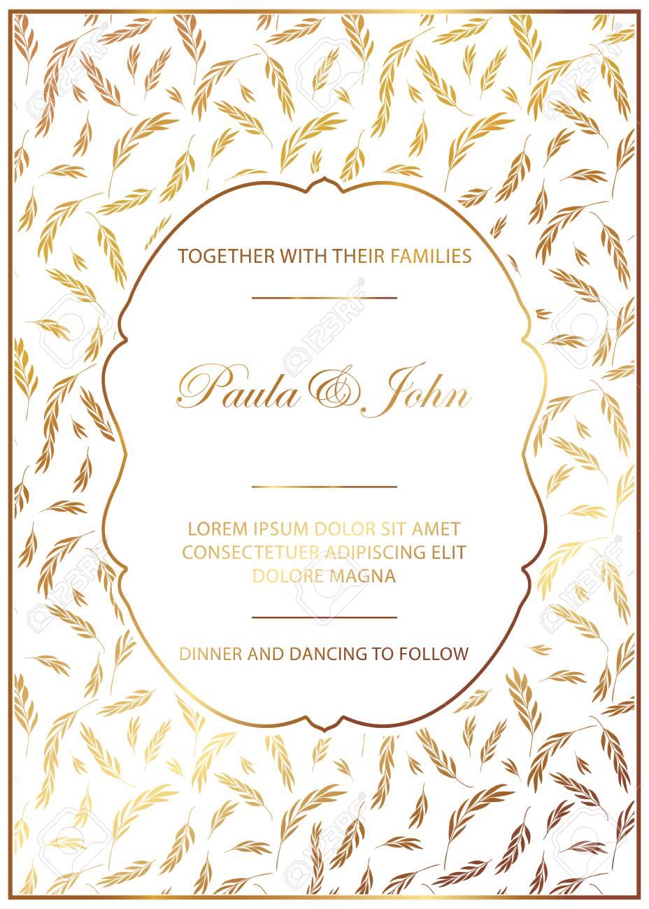 Stylish Wedding Card Vintage Wedding Invitation Template