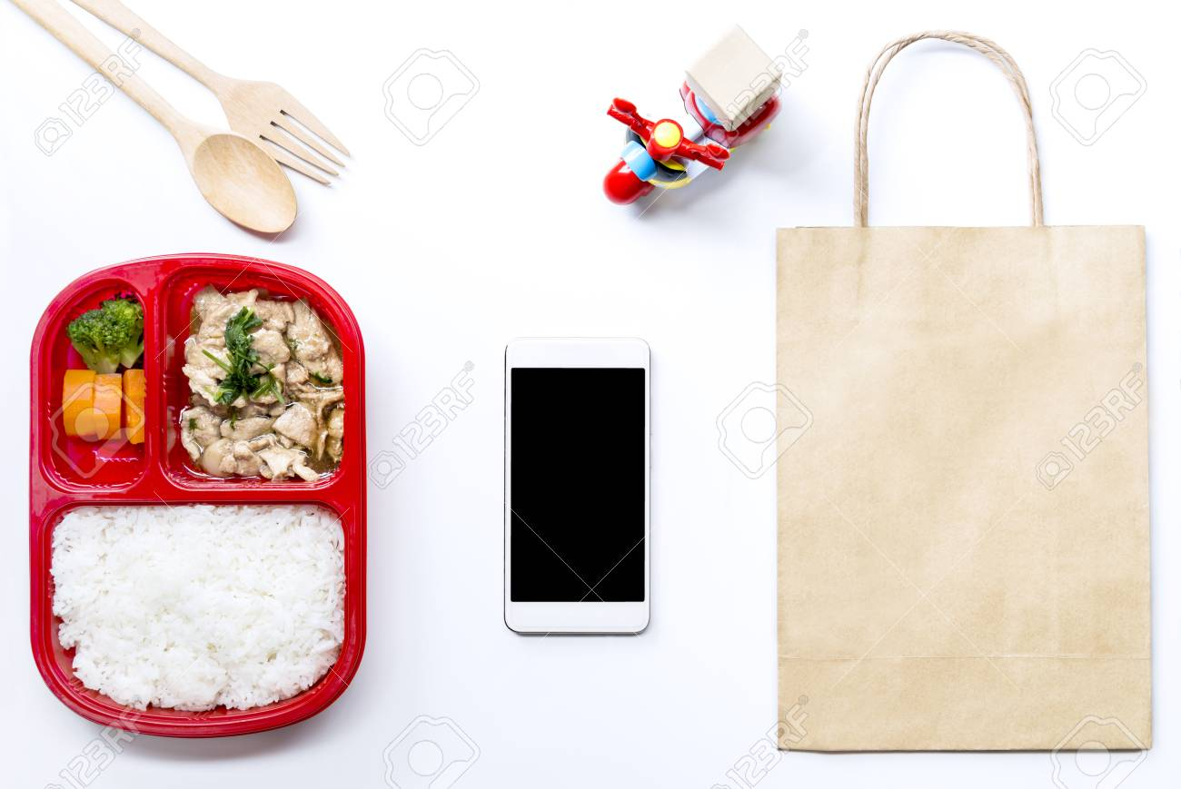 Food Delivery Service: Express Delivery Concept For Business.. Stock ...