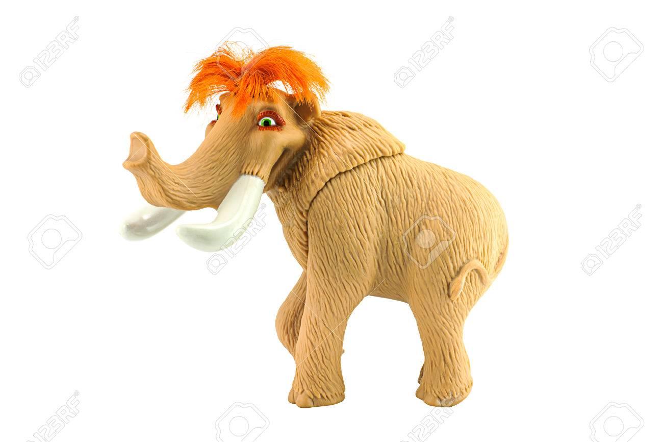 bangkok, thailand - july 28, 2014 : ellie female woolly mammoth