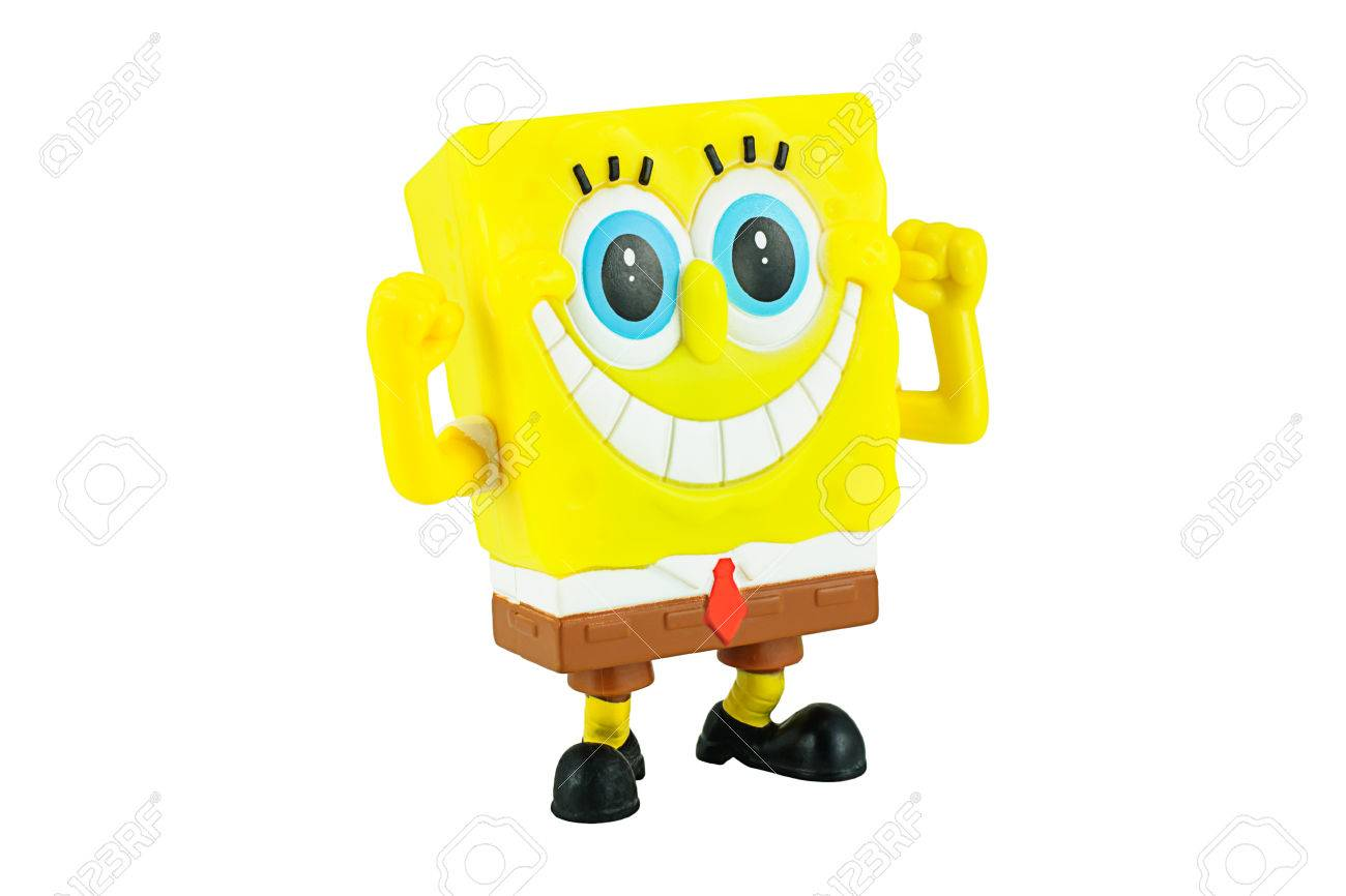 bangkok thailand january 19 2015 spongebob squarepants toy