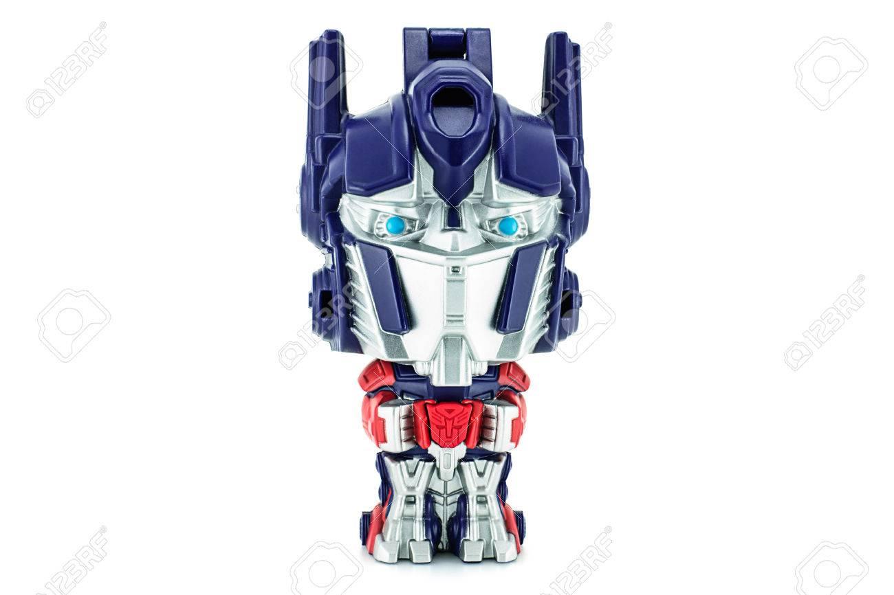 bangkok, thailand - january 22, 2015 : optimus prime toy character