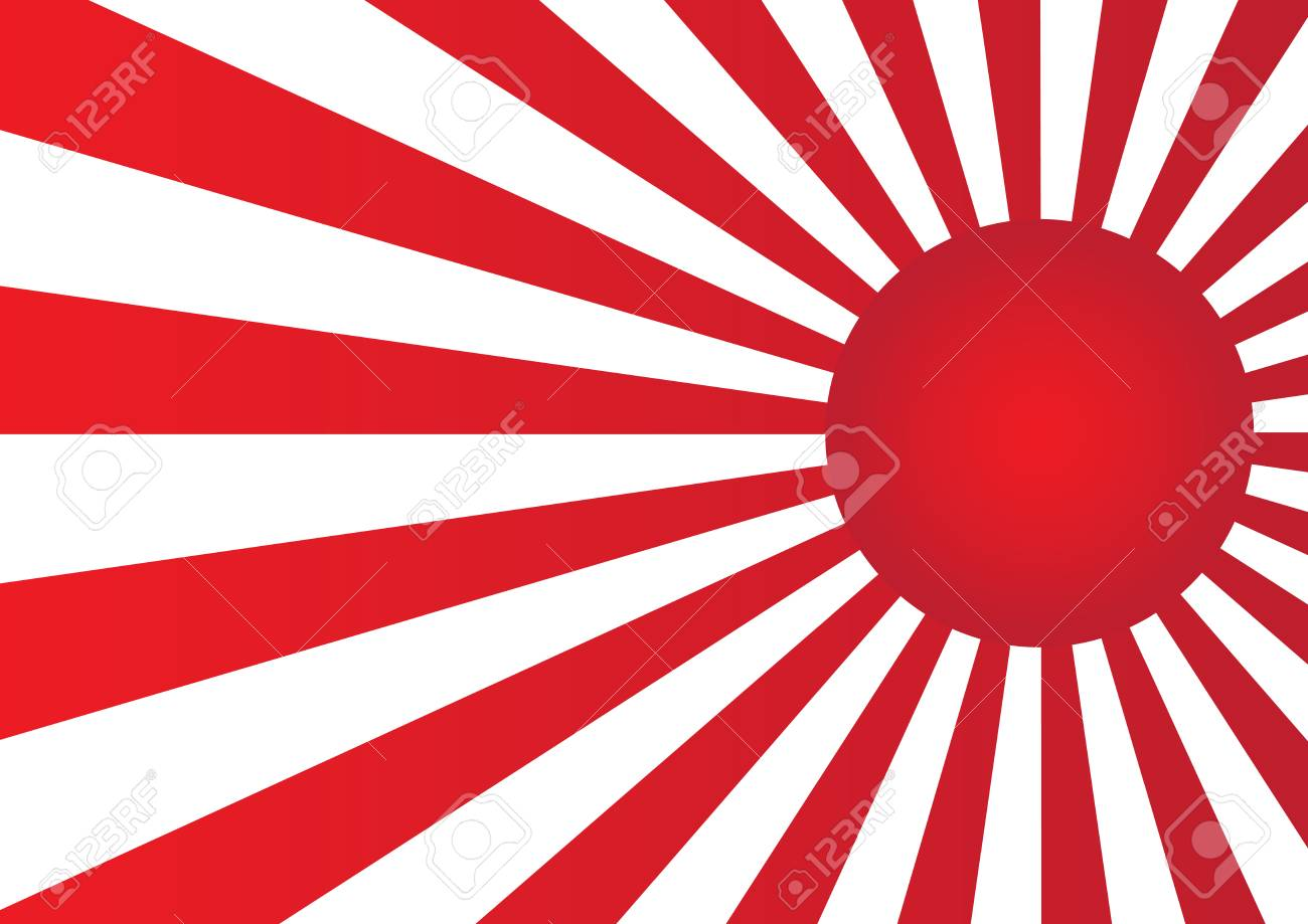 red sun with ray on white background japan flag style vector rh 123rf com sun ray vector free sun ray vector free download
