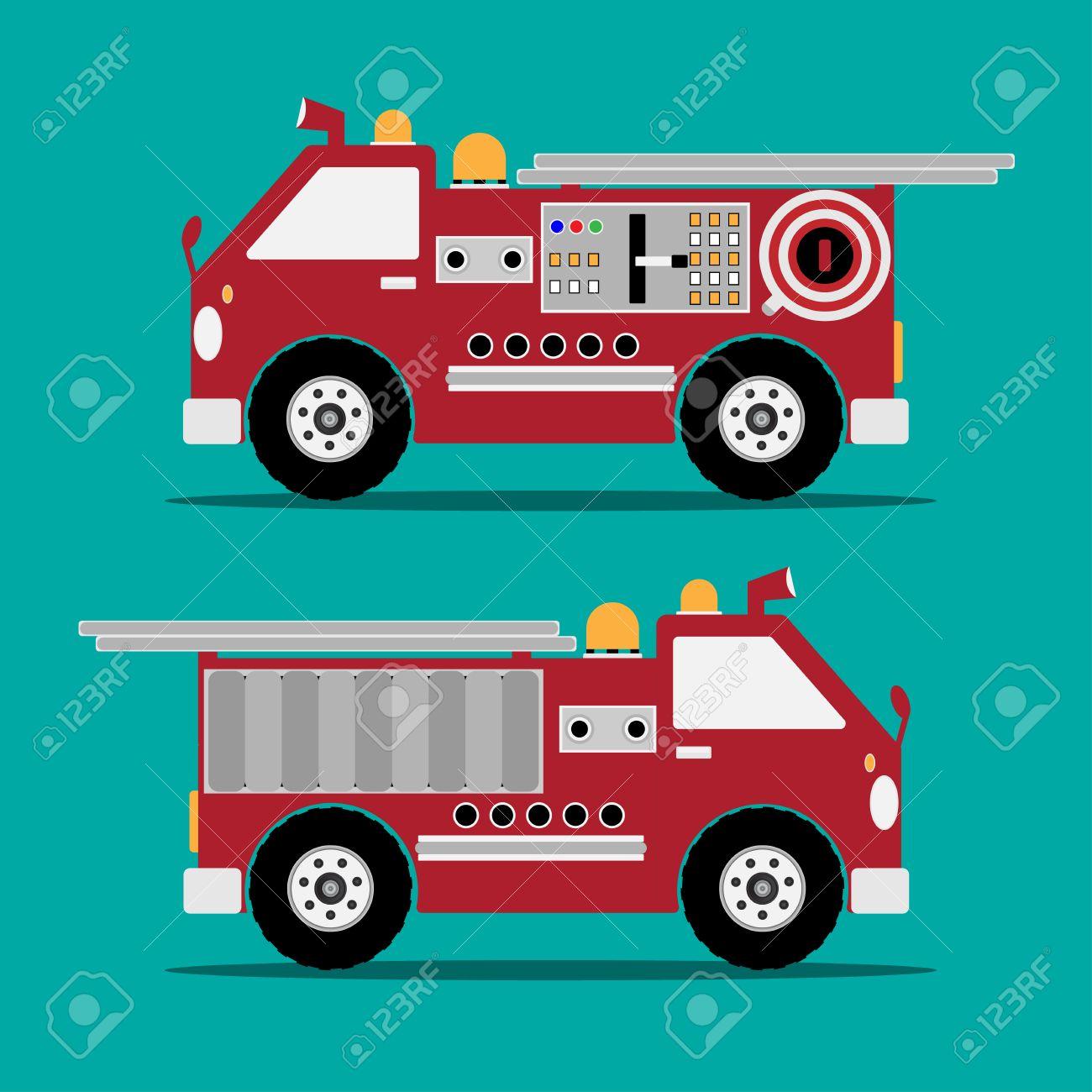 Famoso Páginas De Color De Camión De Bomberos Modelo - Ideas Para ...