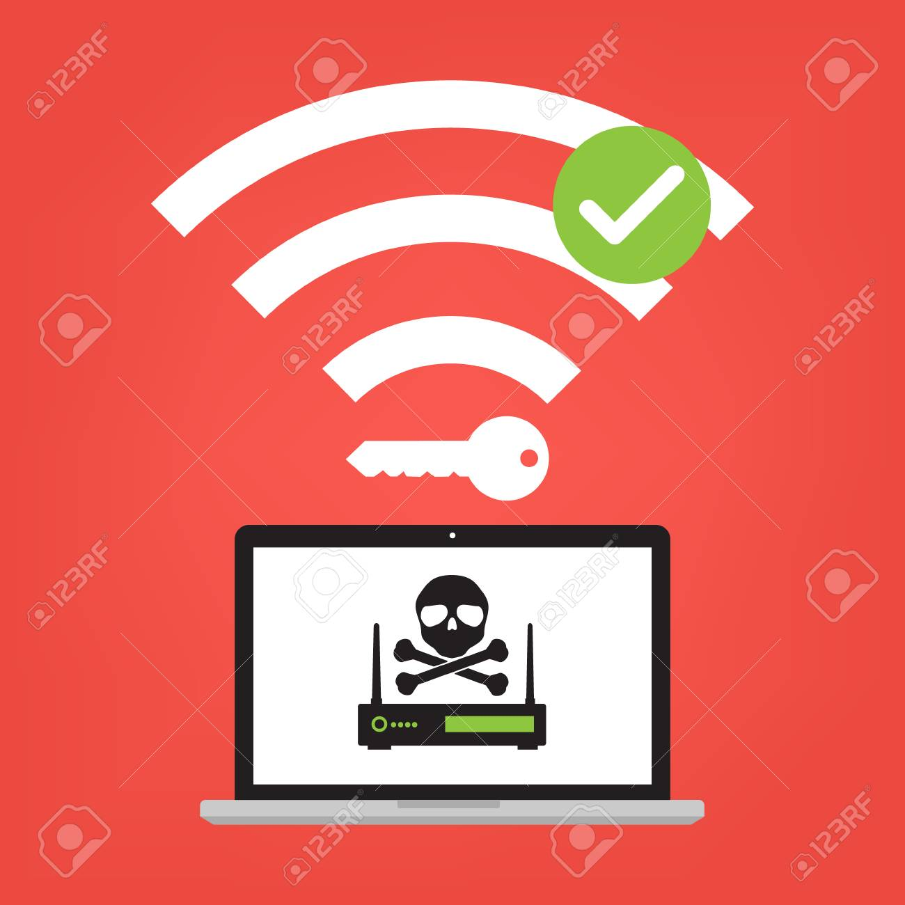 Hacker use KRACK method for steal important data with wifi hack