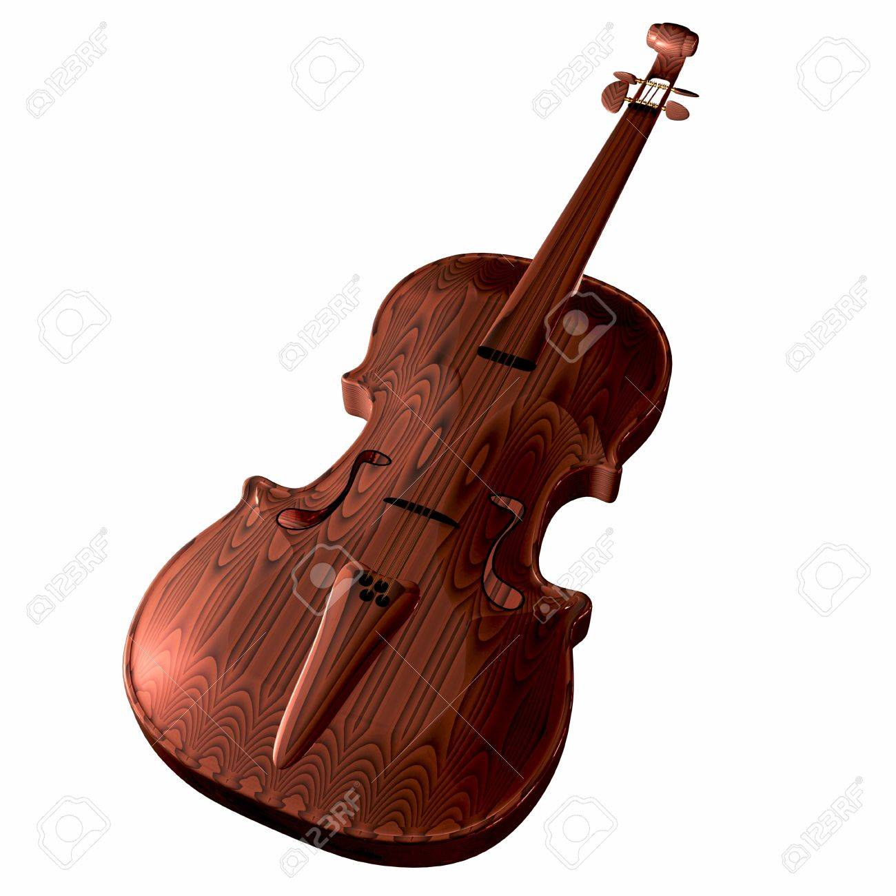 violins under the white background Stock Photo - 14168934