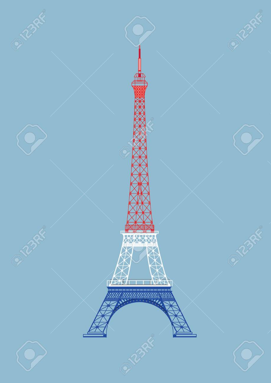 - The Vector Paris Eiffel Tower With Nice Color Royalty Free