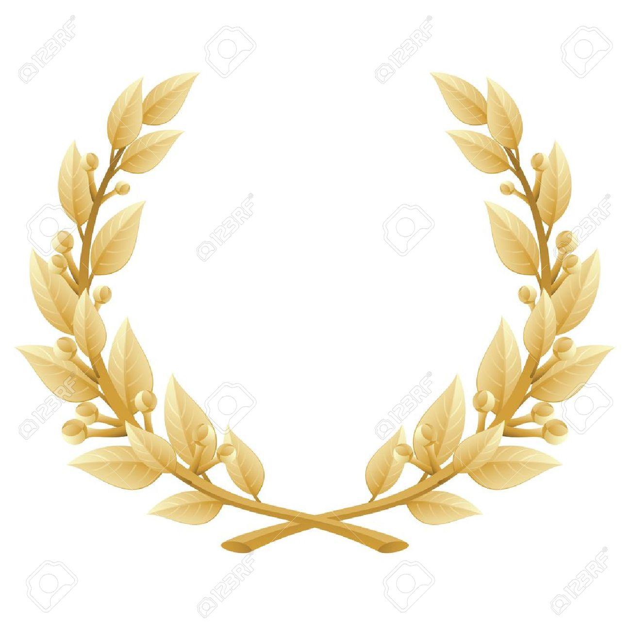 illustration of a gold laurel wreath Stock Vector - 10433354