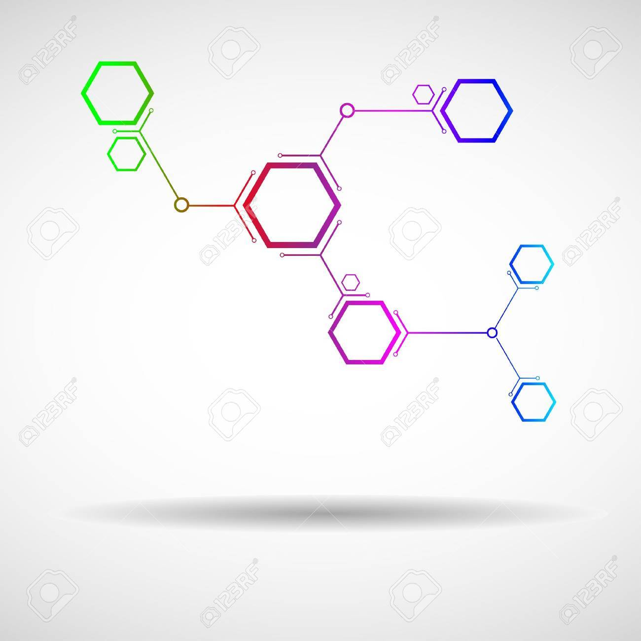 connected by a colored cell Stock Vector - 15276800