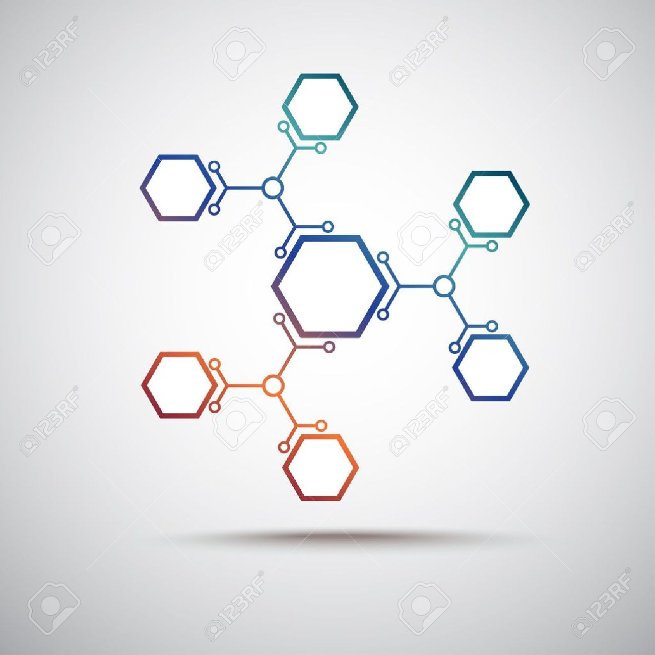 connected by a colored cell  Vector Graphics Stock Vector - 15434849
