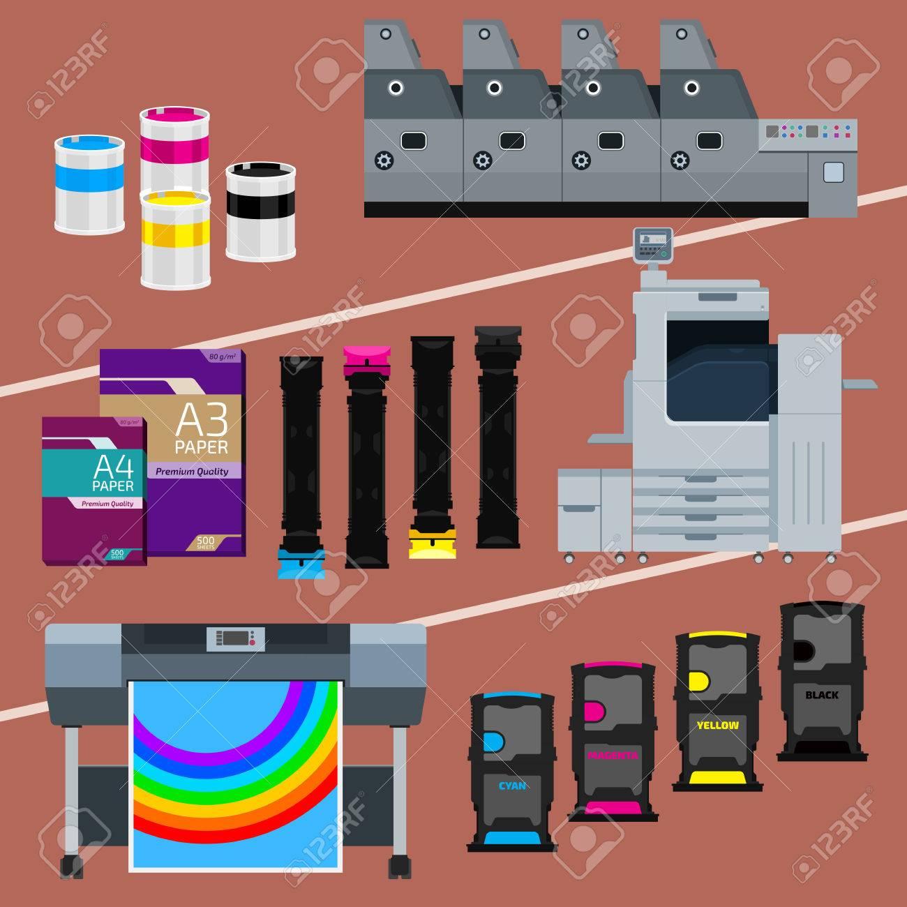 Printing Equipment Color Printer Cyan Magenta Yellow Black Pant