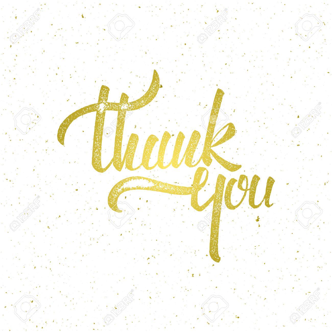 goldene danke auf weißem hintergrund schriftzug. illustration für, Einladung