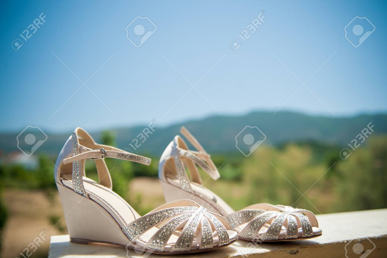 ee28044e5586e gorgeous summer wedding shoes Stock Photo - 99886711