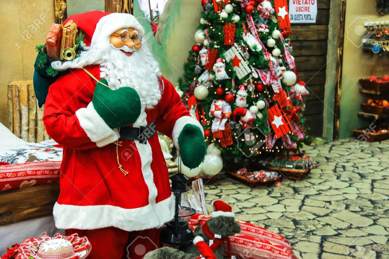 Babbo Natale Italy.Taneto Italy December 27 2014 Great Cristmas Market