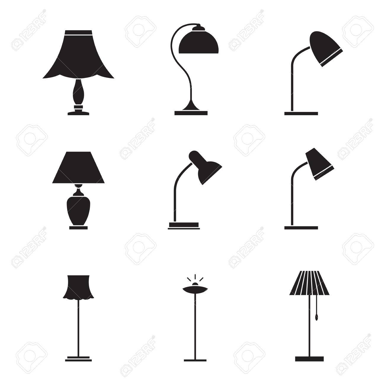 Lamps And Lighting >> Light Fixture Icons Lamps And Lighting Devices