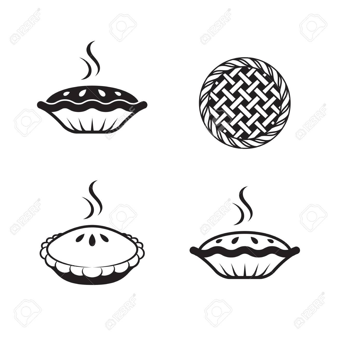 pie icons set. Black on a white background - 84730062