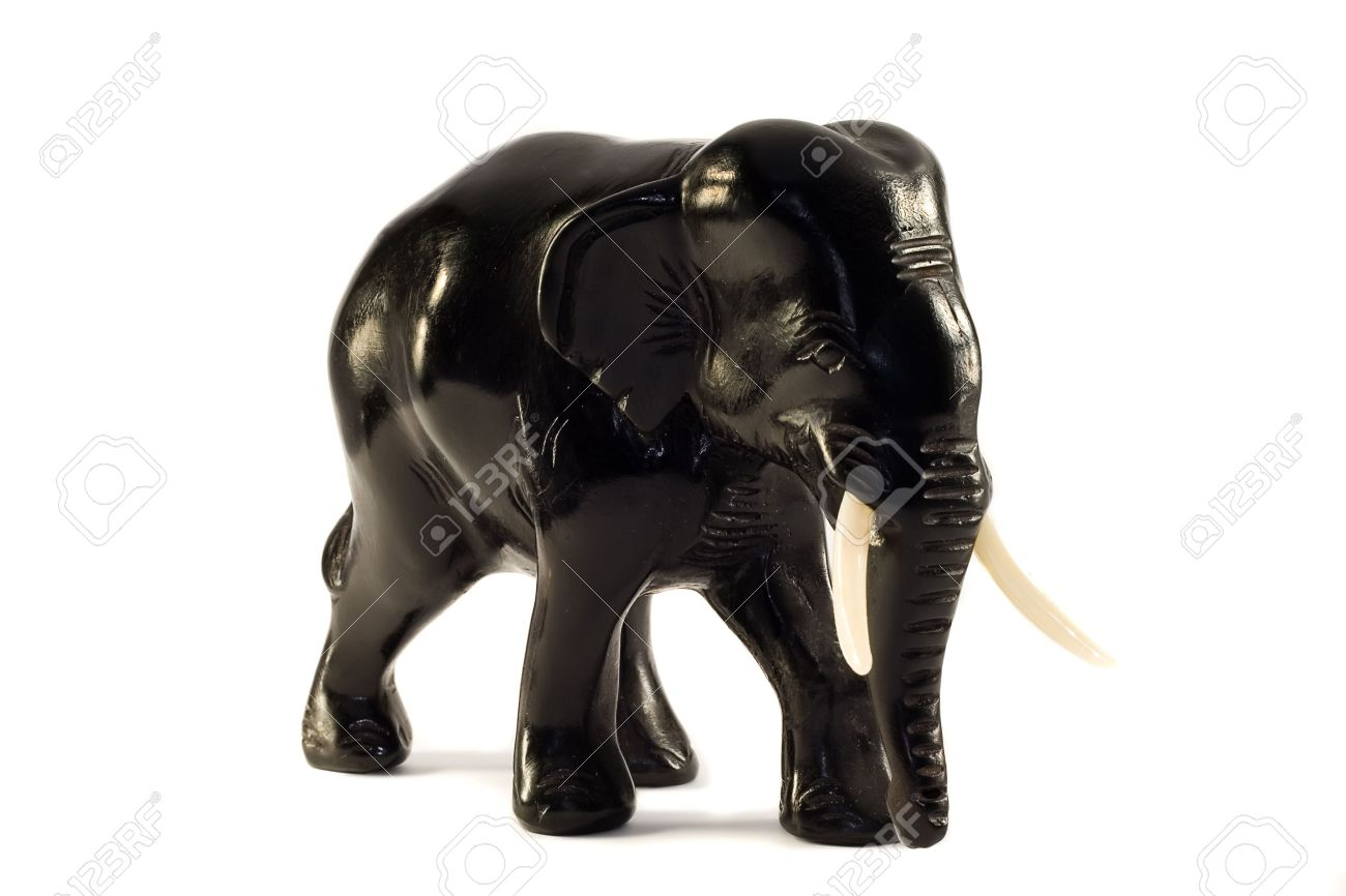 Image result for small black elephant statue