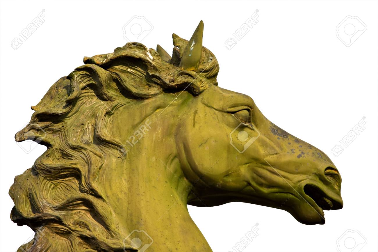 bronze statue of horse isolated on white Stock Photo - 5420450