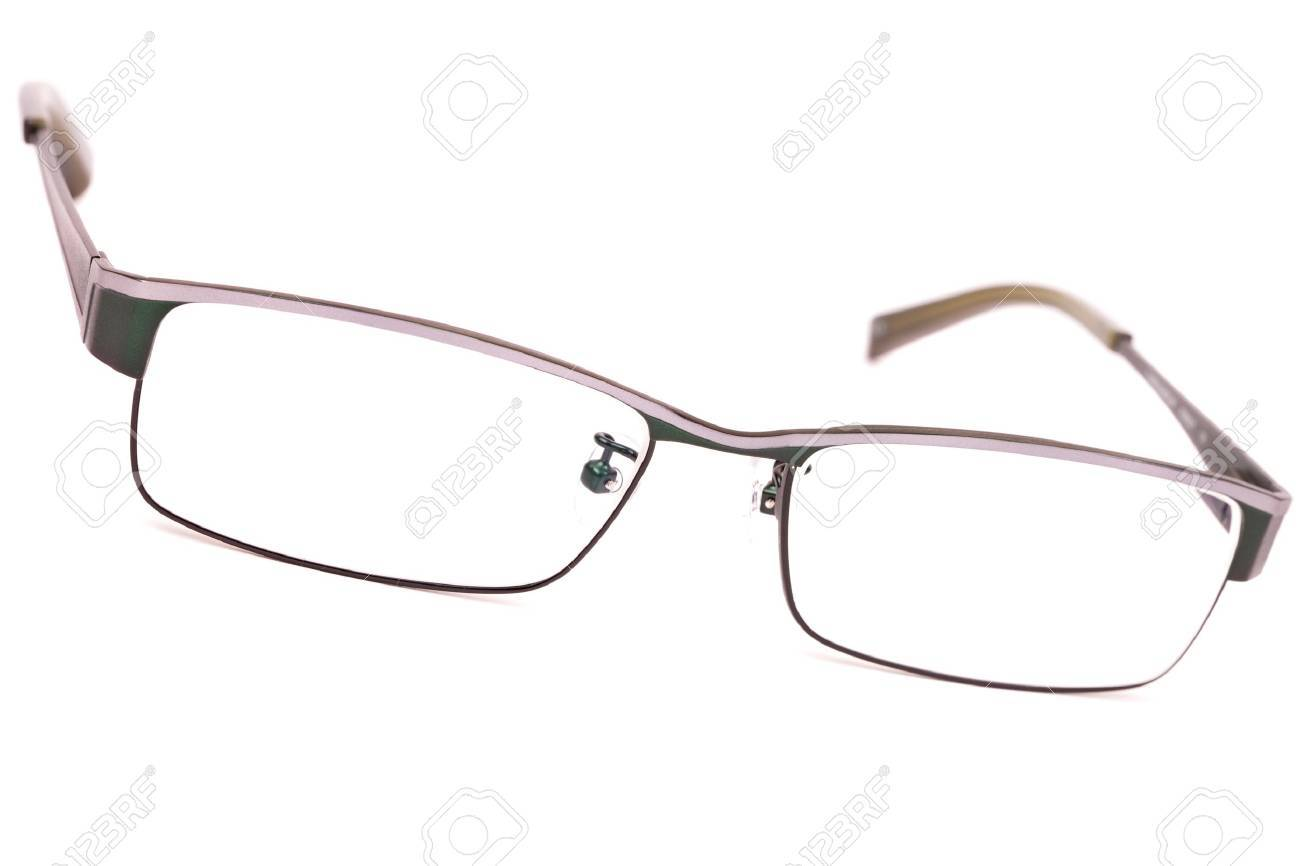 Pair of classic metal-framed glasses isolated on white Stock Photo - 11378820