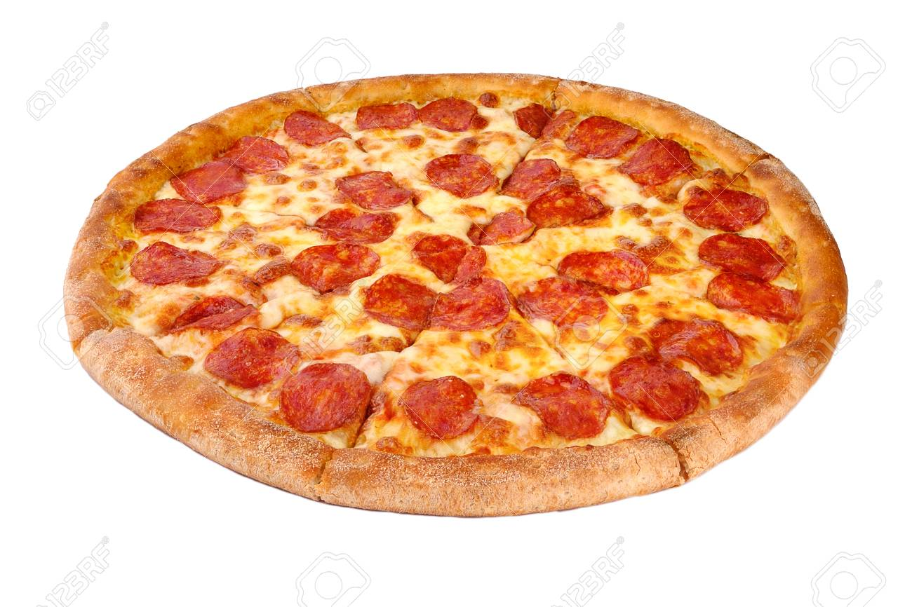 Pizza isolated on white background - 91391098