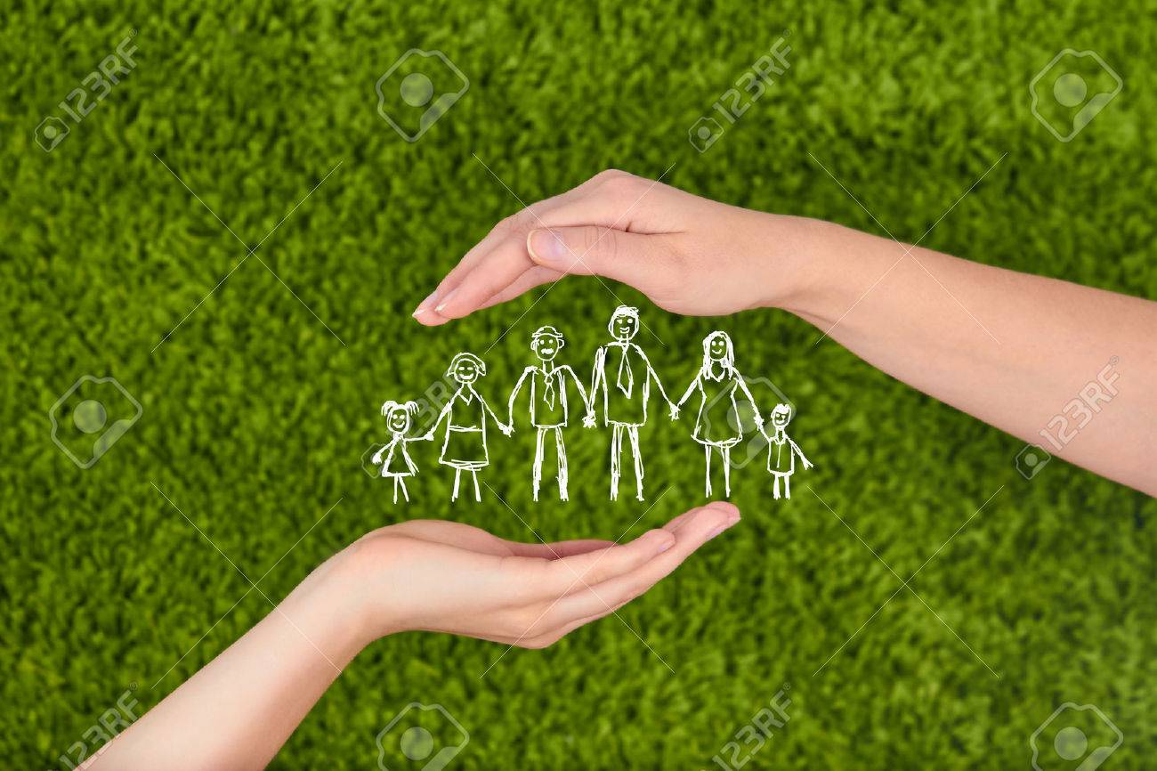 .Family life insurance, protecting family, family concepts. - 50710783
