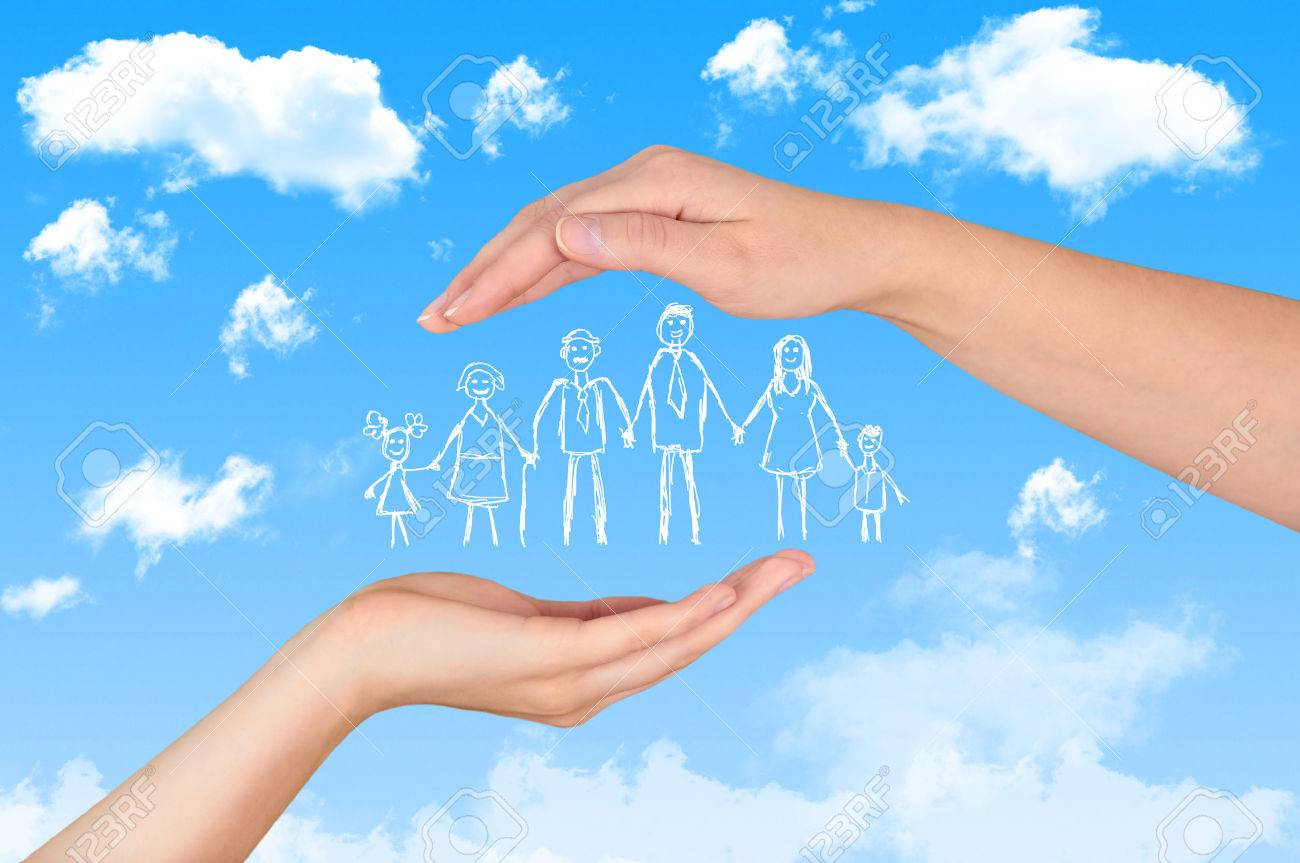 Family life insurance, protecting family, family concepts. - 50712840