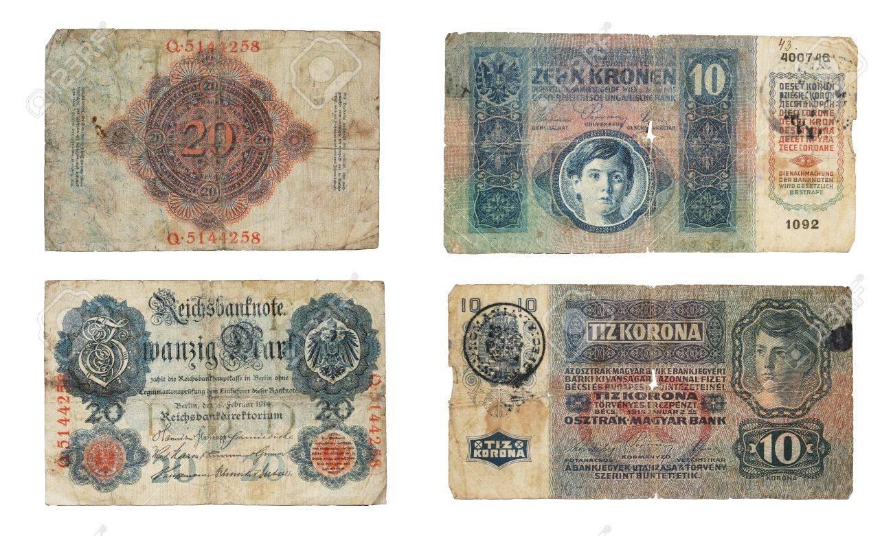 ドイツ 20 マーク、1914 年から 1915年からオーストリア ハンガリー 10 ...