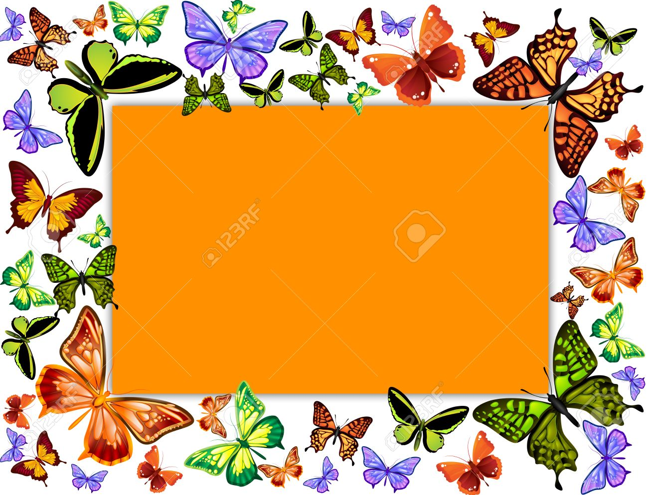 butterflies frame illustration stock illustration 11295494