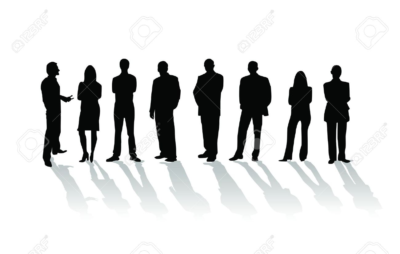 Business people silhouette Stock Photo - 11295499