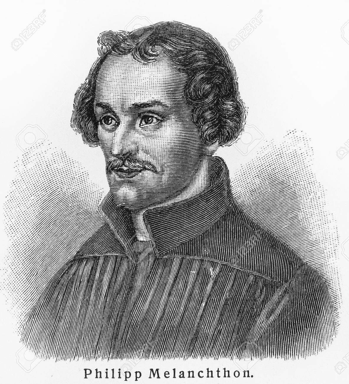 Philipp Melanchthon - Picture from Meyers Lexicon books written in German language. Collection of 21 volumes published between 1905 and 1909. - 11273556